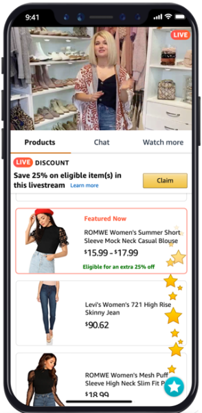 Service video per Live Stream Shopping