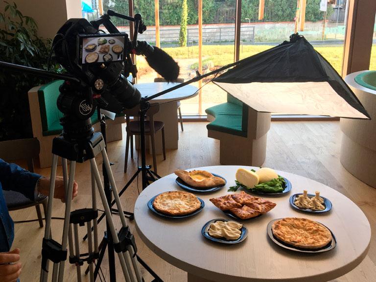 Servizi professionali di riprese video per il settore culinario