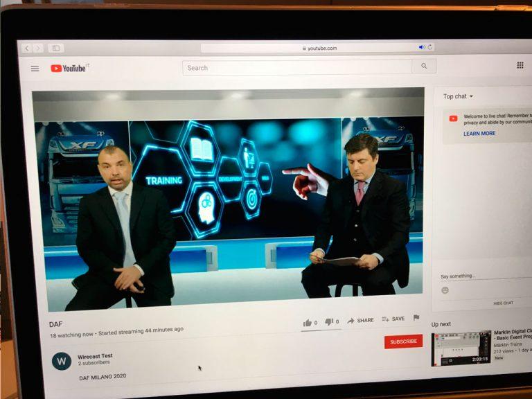 Realizzazione di set virtuali e studio virtuale per eventi streaming