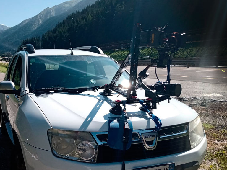Video Shooting Services Camera car mouting in Italy