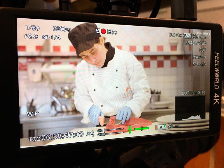 Service operatore videomaker per ricette di cucina
