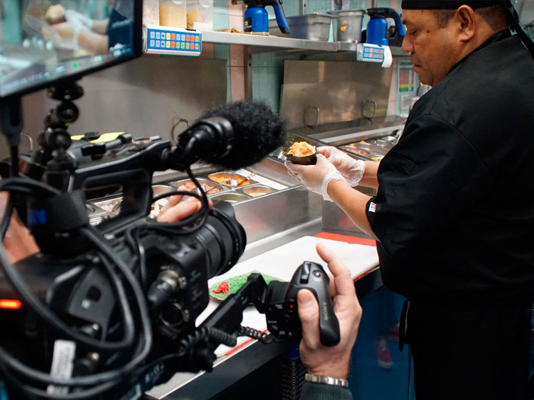 Service videomaker per ricette culinarie
